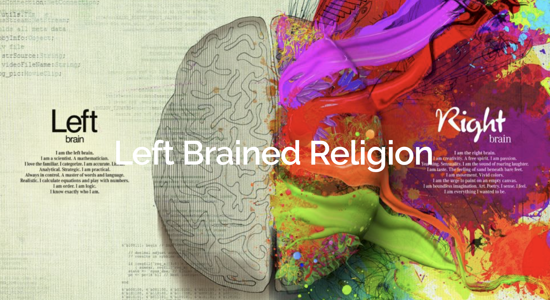 leftbrained religion